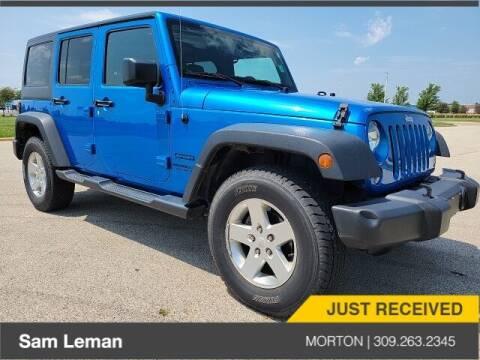 2015 Jeep Wrangler Unlimited for sale at Sam Leman CDJRF Morton in Morton IL