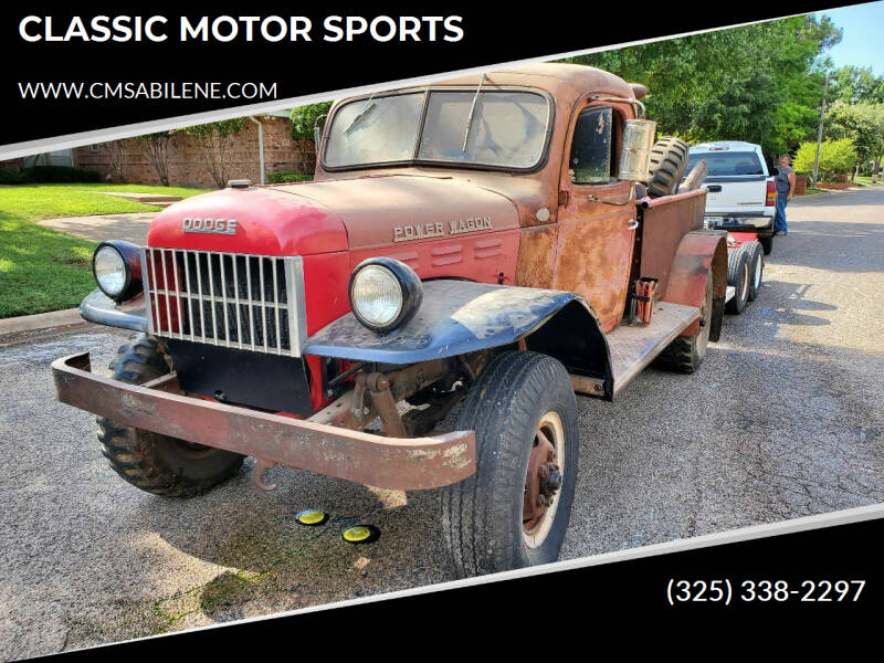 1951 Dodge Power Wagon for sale at CLASSIC MOTOR SPORTS in Winters TX