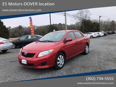 2010 Toyota Corolla for sale at ES Motors-DAGSBORO location - Dover in Dover DE