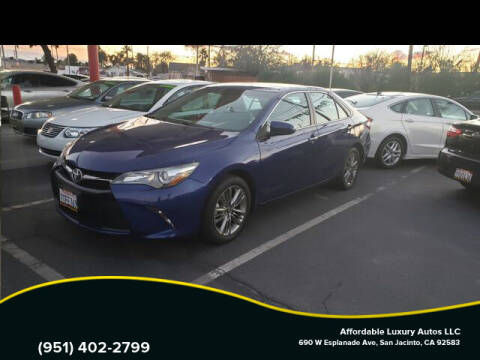 2016 Toyota Camry for sale at Affordable Luxury Autos LLC in San Jacinto CA