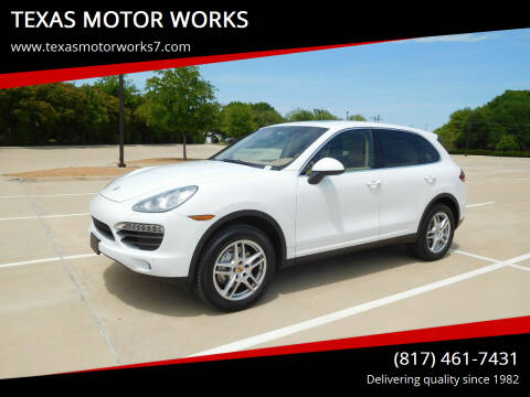 2013 Porsche Cayenne for sale at TEXAS MOTOR WORKS in Arlington TX