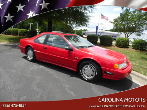 1992 Ford Thunderbird for sale at CAROLINA MOTORS in Thomasville NC