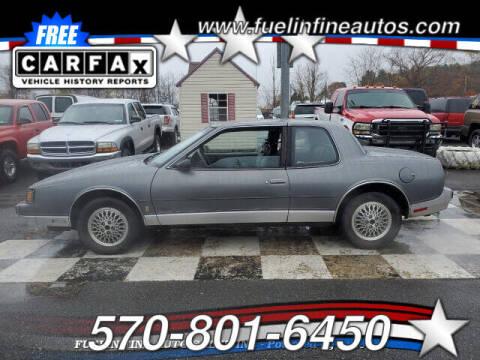 1987 Oldsmobile Toronado for sale at FUELIN FINE AUTO SALES INC in Saylorsburg PA