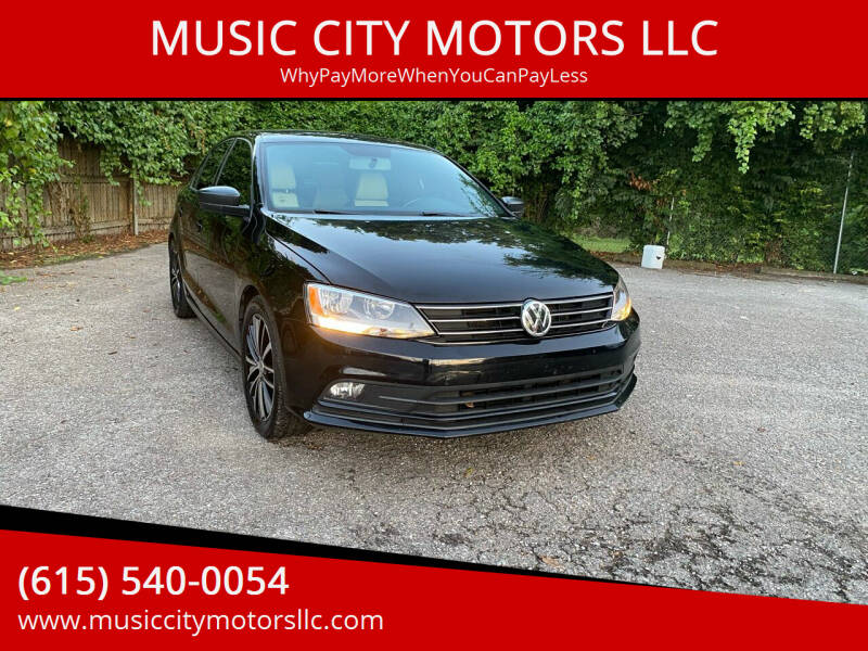 2016 Volkswagen Jetta for sale at MUSIC CITY MOTORS LLC in Nashville TN
