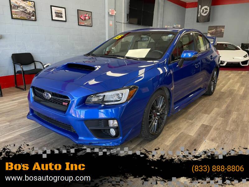 2015 Subaru WRX for sale at Bos Auto Inc in Quincy MA
