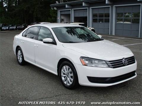 2013 Volkswagen Passat for sale at Autoplex Motors in Lynnwood WA