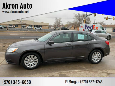 2014 Chrysler 200 for sale at Akron Auto - Fort Morgan in Fort Morgan CO