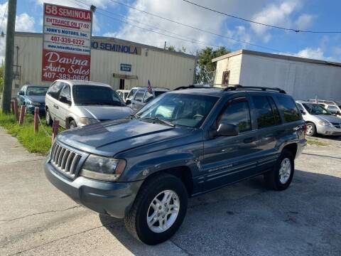 2004 Jeep Grand Cherokee for sale at DAVINA AUTO SALES in Orlando FL