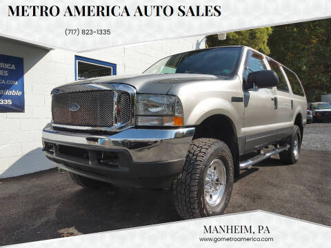 2003 Ford Excursion for sale at METRO AMERICA AUTO SALES of Manheim in Manheim PA