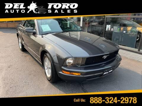 2007 Ford Mustang for sale at DEL TORO AUTO SALES in Auburn WA