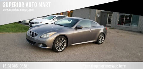 2008 Infiniti G37 for sale at SUPERIOR AUTO MART in Amelia OH