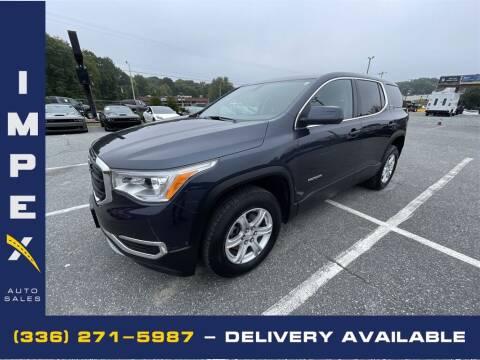 2018 GMC Acadia for sale at Impex Auto Sales in Greensboro NC