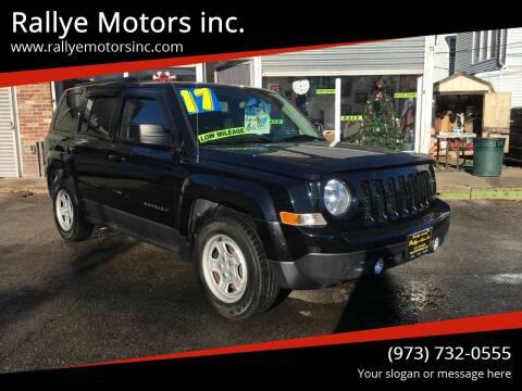 2017 Jeep Patriot for sale at Rallye  Motors inc. in Newark NJ