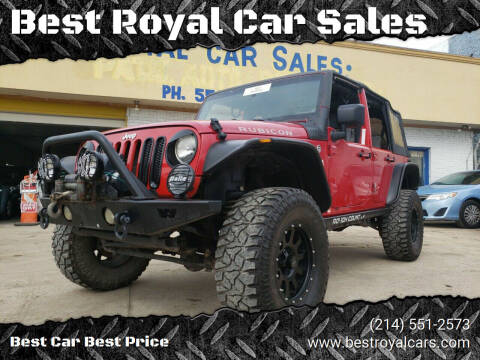 2008 Jeep Wrangler Unlimited for sale at Best Royal Car Sales in Dallas TX