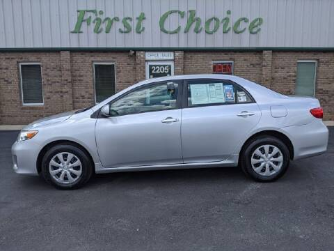 2011 Toyota Corolla for sale at First Choice Auto in Greenville SC