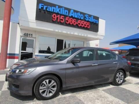 2015 Honda Accord for sale at Franklin Auto Sales in El Paso TX