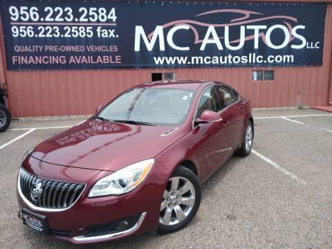 2016 Buick Regal for sale at MC Autos LLC in Pharr TX