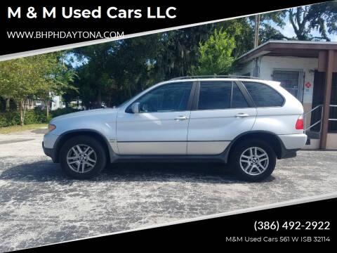 2004 BMW X5 for sale at M & M Used Cars LLC in Daytona Beach FL