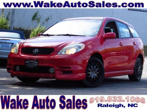 2004 Toyota Matrix for sale at Wake Auto Sales Inc in Raleigh NC