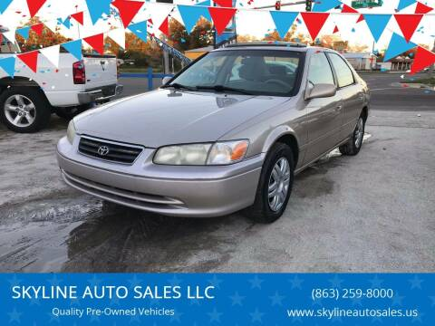 2000 Toyota Camry for sale at SKYLINE AUTO SALES LLC in Winter Haven FL