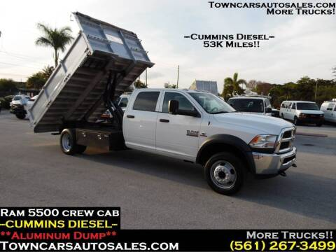 2015 Dodge Ram Chassis 5500 for sale at Town Cars Auto Sales in West Palm Beach FL