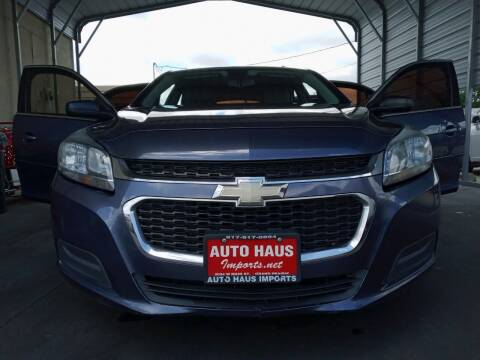 2014 Chevrolet Malibu for sale at Auto Haus Imports in Grand Prairie TX
