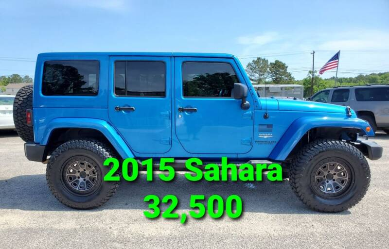 2015 Jeep Wrangler Unlimited for sale at Rodgers Enterprises in North Charleston SC