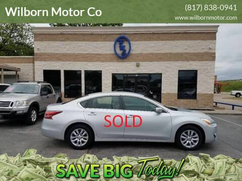 2014 Nissan Altima for sale at Wilborn Motor Co in Fort Worth TX