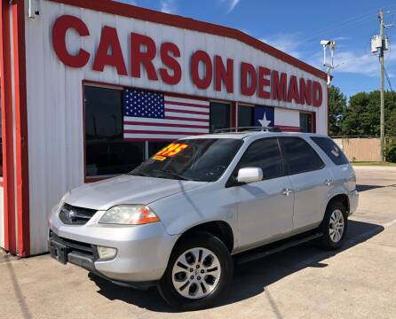 2003 Acura MDX for sale at Cars On Demand 3 in Pasadena TX