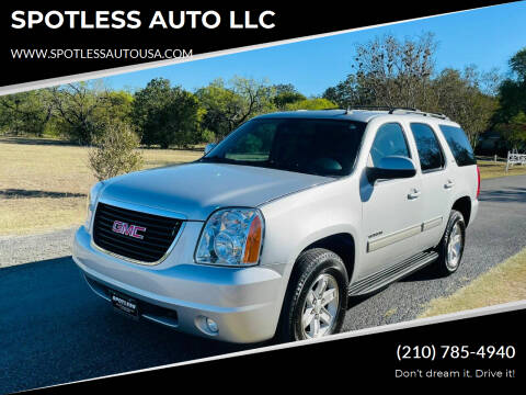 2013 GMC Yukon for sale at SPOTLESS AUTO LLC in San Antonio TX