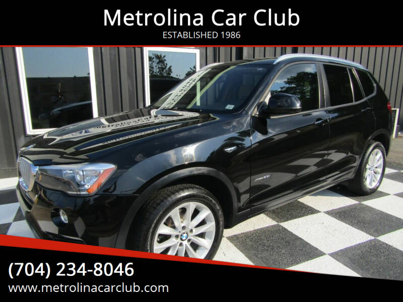 2016 BMW X3 for sale at Metrolina Car Club in Matthews NC