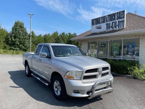 2012 RAM Ram Pickup 1500 for sale at NATIONAL CAR AND TRUCK SALES LLC - National Car and Truck Sales in Concord NC