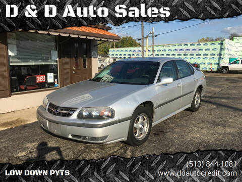 2001 Chevrolet Impala for sale at D & D Auto Sales in Hamilton OH