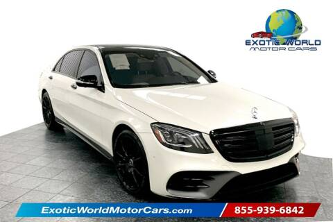 2019 Mercedes-Benz S-Class for sale at Exotic World Motor Cars in Addison TX