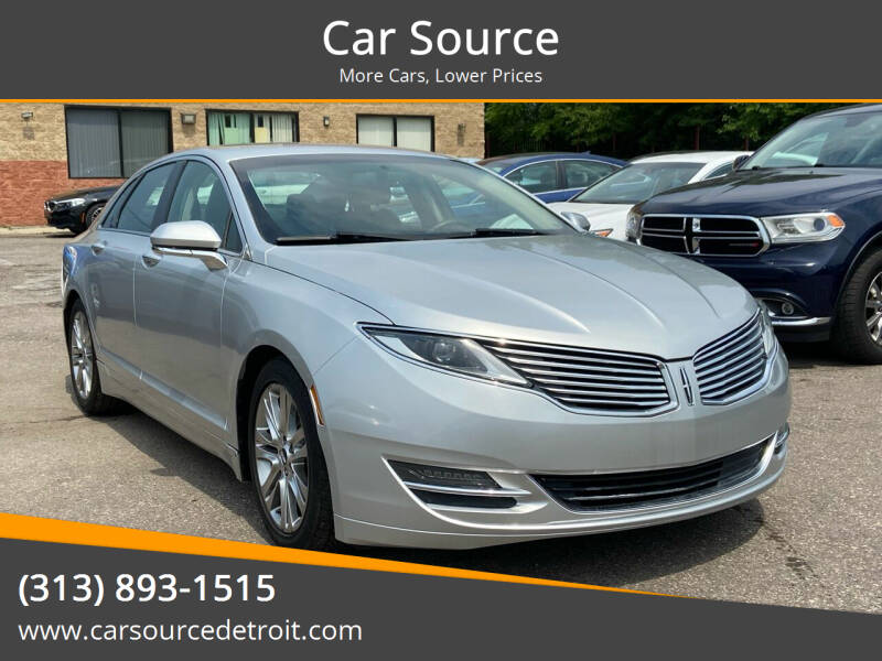 2015 Lincoln MKZ for sale at Car Source in Detroit MI