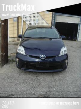 2012 Toyota Prius Plug-in Hybrid for sale at TruckMax in N. Laurel MD