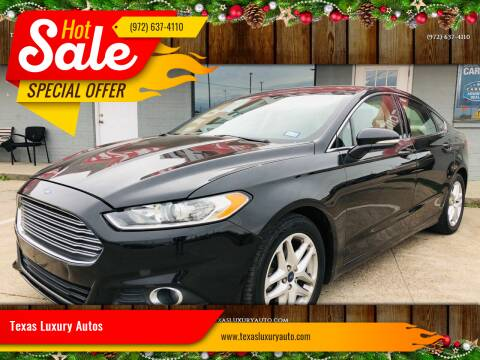 2015 Ford Fusion for sale at Texas Luxury Auto in Cedar Hill TX