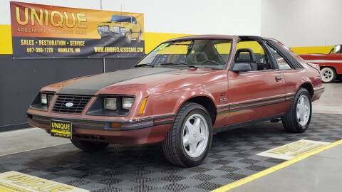 1984 Ford Mustang for sale at UNIQUE SPECIALTY & CLASSICS in Mankato MN