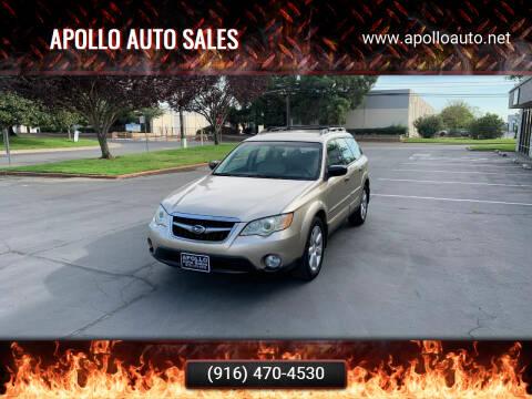 2008 Subaru Outback for sale at APOLLO AUTO SALES in Sacramento CA