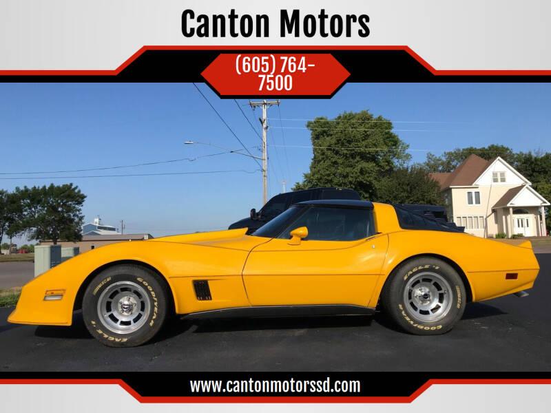 1980 Chevrolet Corvette for sale at Canton Motors in Canton SD