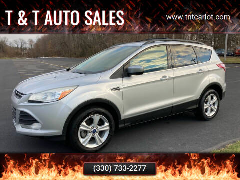 2013 Ford Escape for sale at T & T Auto Sales in Akron OH