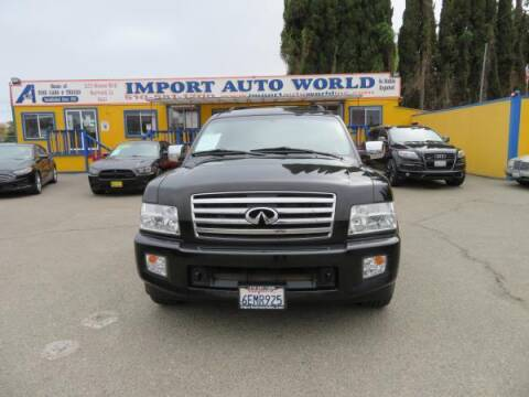 2005 Infiniti QX56 for sale at Import Auto World in Hayward CA