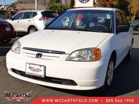 2003 Honda Civic for sale at McCarthy Wholesale in San Luis Obispo CA