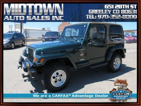 1999 Jeep Wrangler for sale at MIDTOWN AUTO SALES INC in Greeley CO