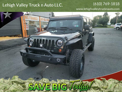 2011 Jeep Wrangler Unlimited for sale at Lehigh Valley Truck n Auto LLC. in Schnecksville PA