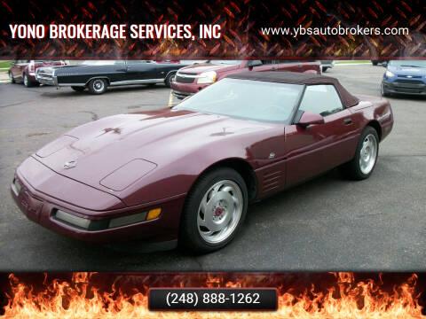 1993 Chevrolet Corvette for sale at Yono Brokerage Services, INC in Farmington MI