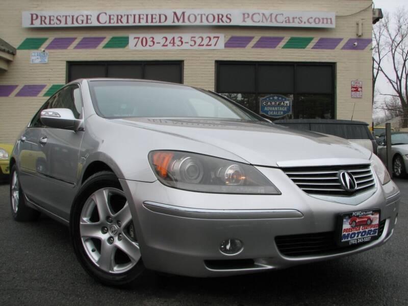 2008 Acura RL for sale at Prestige Certified Motors in Falls Church VA