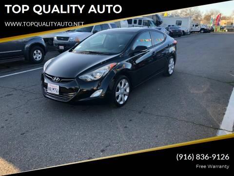 2012 Hyundai Elantra for sale at TOP QUALITY AUTO in Rancho Cordova CA