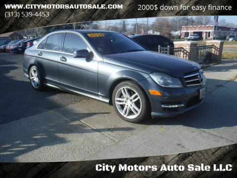 2014 Mercedes-Benz C-Class for sale at City Motors Auto Sale LLC in Redford MI