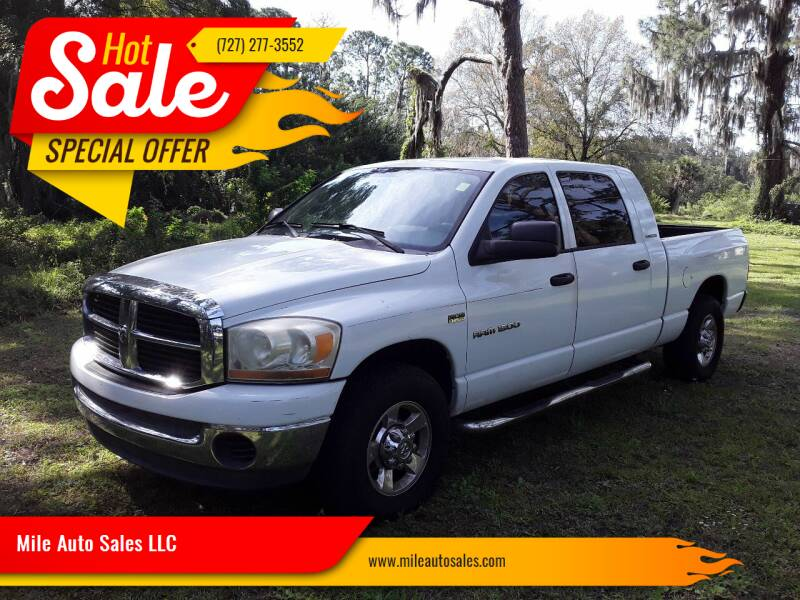 2006 Dodge Ram Pickup 1500 for sale at Mile Auto Sales LLC in Holiday FL